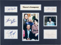 Movie/TV Memorabilia:Autographs and Signed Items, Three's Company Collection of Signat...