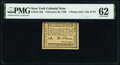 Colonial Notes:New York, New York- New York City February 20, 1790 1d PMG Uncirculated 62.. ...