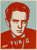 Prints & Multiples, Shepard Fairey (b. 1970). Strummer Poster, 2002. Screenprint in colors on speckled cream paper. 24 x 18 inches (61 x 45....