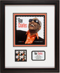 Music Memorabilia:Memorabilia, Ray Charles Post Office Stamp Matted and Framed Set (2013)...