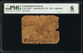 Continental Currency September 26, 1778 $50 Contemporary Counterfeit PMG Very Good 8