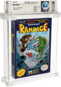 Video Games:Nintendo, Rampage - Wata 9.6 A+ Sealed [Oval SOQ TM, Later Production], NES Data East 1988 USA....