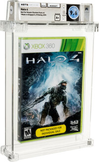 Halo 4 (NFR)- Wata 9.6 A+ Sealed [System Pack-in], Xbox360 Microsoft 2012 USA