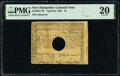 Colonial Notes:New Hampshire, New Hampshire April 29, 1780 $1 PMG Very Fine 20.