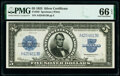 Large Size:Silver Certificates, Fr. 282 $5 1923 Silver Certificate PMG Gem Uncirculated 66...