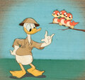 Animation Art:Production Cel, Fall Out Fall In Donald Duck Production Cel Courvoisier Setup (Walt Disney, 1943)....