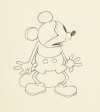 Steamboat Willie Animation Production Drawing by Ub Iwerks (Walt Disney, 1928)