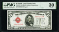 Small Size:Legal Tender Notes, Fr. 1527 $5 1928B Legal Tender Note. PMG Very Fine 30.. ...