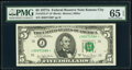 Small Size:Federal Reserve Notes, Fr. 1975-J* $5 1977A Federal Reserve Star Note. PMG Gem Un...