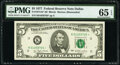 Small Size:Federal Reserve Notes, Fr. 1974-K* $5 1977 Federal Reserve Star Note. PMG Gem Unc...