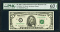 Small Size:Federal Reserve Notes, Fr. 1976-J* $5 1981 Federal Reserve Star Note. PMG Superb ...
