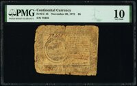 Continental Currency November 29, 1775 $5 PMG Very Good 10