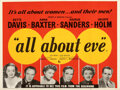 """Movie Posters:Academy Award Winners, All About Eve (20th Century Fox, 1950). Flat Folded, Very Fine. British Quad (30"""" X 40"""").. ..."""