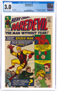 Daredevil #1 (Marvel, 1964) CGC GD/VG 3.0 Cream to off-white pages