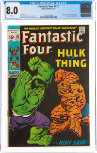 Fantastic Four #112 (Marvel, 1971) CGC VF 8.0 White pages