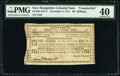 New Hampshire November 3, 1775 30s Contemporary Counterfeit PMG Extremely Fine 40