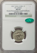 1837 1C Feuchtwanger Cent, Low-120, HT-268, W-NY-480, MS64 NGC. CAC. NGC Census: (106/79). PCGS Population: (45/13). CDN...