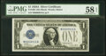 Small Size:Silver Certificates, Fancy Serial Number 80000010 Fr. 1601 $1 1928A Silver Certificate. PMG Choice About Unc 58 EPQ.. ...
