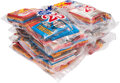 """Baseball Cards:Unopened Packs/Display Boxes, 1980's Donruss Baseball & Non-Sports """"Fun Pack"""" Unopened Bags Lot of 7. ..."""
