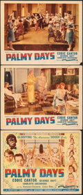 """Movie Posters:Comedy, Palmy Days (Film Classics, R-1944). Very Fine-. Title Lobby Card and Lobby Cards (2) (11"""" X 14""""). Comedy.. ... (Tot..."""