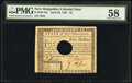Colonial Notes:New Hampshire, New Hampshire April 29, 1780 $5 PMG Choice About Unc 58.. ...