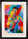 Boxing Collectibles:Memorabilia, 1990's Muhammad Ali Serigraph by LeRoy Neiman, Signed by Both....