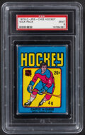 Hockey Cards:Unopened Packs/Display Boxes, 1979 O-Pee-Chee Unopened Wax Pack PSA Mint 9 - Gretzky Rookie Year!...