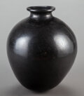 American Indian Art:Pottery, A Large Mexican Blackware Storage Jar...