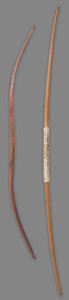 American Indian Art:Pipes, Tools, and Weapons, Two Plains Bows... (Total: 2 )