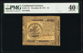 Continental Currency November 29, 1775 $5 PMG Extremely Fine 40 EPQ