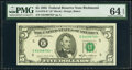 Small Size:Federal Reserve Notes, Fr. 1978-E* $5 1985 Federal Reserve Note. PMG Choice Uncir...