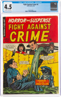 Golden Age (1938-1955):War, Fight Against Crime #6 (Story Comics, 1952) CGC VG+ 4.5 Off-white to white pages....