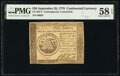 Colonial Notes:Continental Congress Issues, Continental Currency September 26, 1778 $50 Contemporary C...