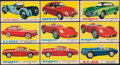 Non-Sport Cards:Lots, 1961 Topps Sports Cars Partial Set (47/66) Plus Extras (61)....