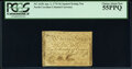 Colonial Notes:North Carolina, North Carolina April 2, 1776 $6 Squirrel eating a nut PCGS Choice About New 55PPQ.. ...