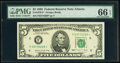 Small Size:Federal Reserve Notes, Fr. 1979-F* $5 1988 Federal Reserve Star Note. PMG Gem Uncirculated 66 EPQ.. ...