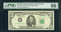 Small Size:Federal Reserve Notes, Fr. 1979-A $5 1988 Federal Reserve Note. PMG Gem Uncirculated 66 EPQ.. ...