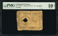 Continental Currency February 26, 1777 $5 Contemporary Counterfeit PMG Very Good 10 Net