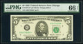Small Size:Federal Reserve Notes, Fr. 1978-G* $5 1985 Federal Reserve Star Note. PMG Gem Uncirculated 66 EPQ.. ...
