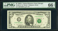 Small Size:Federal Reserve Notes, Fr. 1981-G* $5 1988A Federal Reserve Star Note. PMG Gem Uncirculated 66 EPQ.. ...