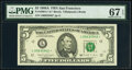 Small Size:Federal Reserve Notes, Fr. 1981-L* $5 1988A Federal Reserve Star Note. PMG Superb Gem Unc 67 EPQ.. ...