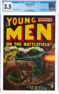 Young Men #20 (Atlas, 1953) CGC VG- 3.5 Cream to off-white pages