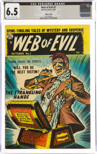 Web of Evil #7 River City Pedigree (Quality, 1953) CGC FN+ 6.5 Off-white to white pages
