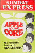 """Music Memorabilia:Posters, The Beatles Sunday Express """"Apple to the Core"""" Promo Poster. ..."""