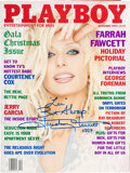 Movie/TV Memorabilia:Autographs and Signed Items, Farrah Fawcett Signed and Inscribed Playboy