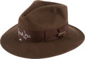 Movie/TV Memorabilia:Autographs and Signed Items, Harrison Ford Signed Fedora. A dark brown fedora ...