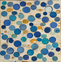 John Belingheri (American, 20th Century) Blink, 2012 Mixed media on canvas 65 x 65 inches (165.1