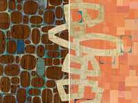 Rex Ray (American, b. 1956) Predigazzia (Diptych), 2012 Mixed media on board 72 x 48 inches (182