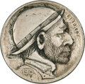 Hobo Nickels, Two Classic Hobo Nickels, Unknown Artists.... (Total: 2 coins)