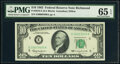 Low Serial Number 3400 Fr. 2016-E $10 1963 Federal Reserve Note. PMG Gem Uncirculated 65 EPQ
